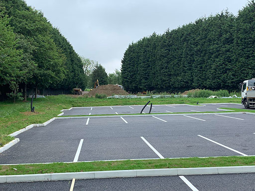 Car park marked out bays